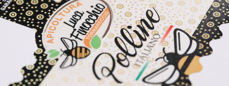 Etichette miele: effetto vivace e dinamico