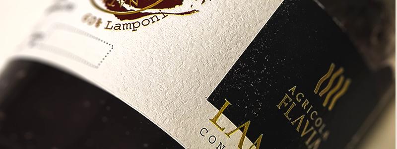 Etichetta confettura lamponi