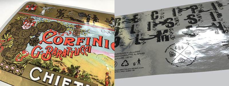 Polipropilene argento lucido per etichette che sorprendono