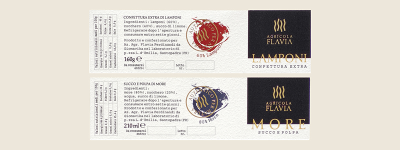 Varianti etichette per marmellate
