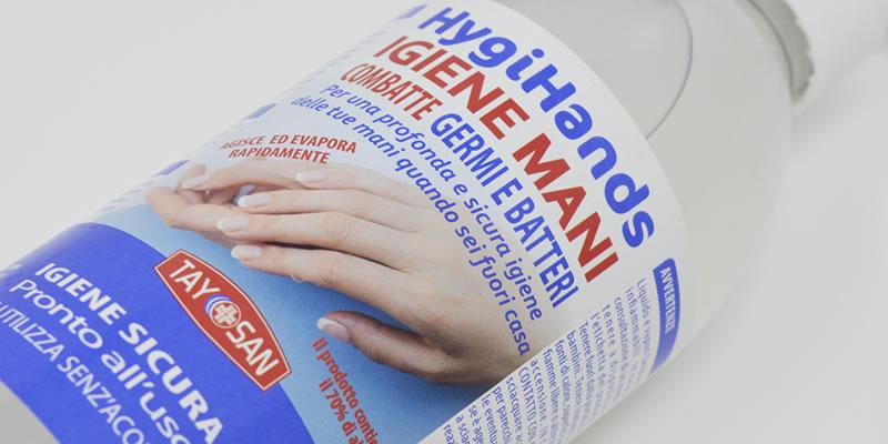 Etichette per prodotti cosmetici e chimici