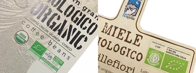 Esempi etichette adesive per il biologico LabelDoo